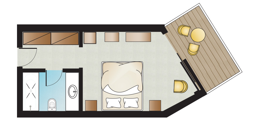 pella-beach-Classic-Double-room-Side-Sea-View-floorplan